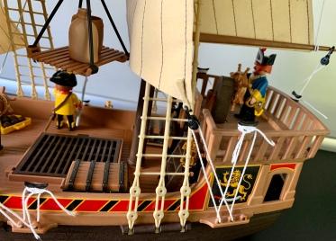 Playmobil Piratenschiff Laderaum und Kran