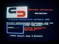 Schneider Wortgalgen Ladebildschirm